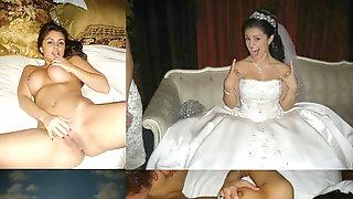 Wedding sundress before during after wifey husband cuckold milf